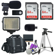 Accessory Bundle for Canon EOS 7D Mark II, 80D, 6D Mark II Digital SLR Camera