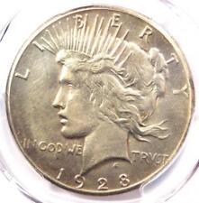1928 Peace Silver Dollar $1 - PCGS AU Details - Rare 1928-P Key Date Coin!