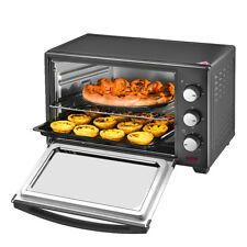 Electric Small Mini Oven 30 Litre Black Table Top Grill Baking Wire Tray UK