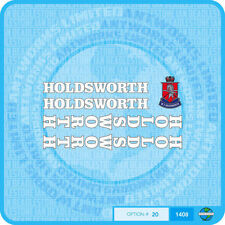 Holdsworth - Bicycle Decals Transfers Stickers - White Fill & Silver Key Set 20