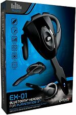 1 x Gioteck EX-01 Bluetooth Black Ear-Hook Headset for Sony PlayStation 3 - PS3