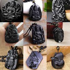 Wholesale Faddish Obsidian Necklace Pendant 18inch set Chinese Men's Women's