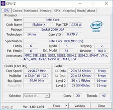Intel Xeon Gold 6138F ES QL1L 1.8GHz 20Core LGA3647 135W Processor CPU