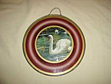 "Antique Swan & Water Lilies Flue Cover 9 1/2"" diameter 5"" picture 9565"