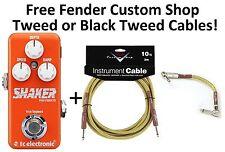 New TC Electronic Shaker Mini Vibrato Guitar Effects Pedal! Fender Cables!