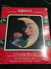 Enesco Christmas Ornament: A Caroling Wee Go Mouse On The Moon New 2nd in series