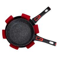 Nonstick Black Frying Pan Granite Marble Coated Aluminium Electric Induction set