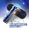 Easttop T008K Blues Harmonica Diatonic Key of C 10 Holes Tone Beginners w/