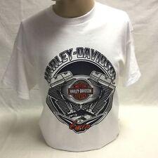 "Harley-Davidson Men's S/S White ""Engine Control"" shirt size Small"