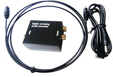DAC SPDIF Toslink Optical Coaxial Digital to RCA Analog Audio Converter +Cable