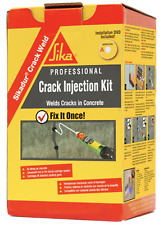 Concrete Crack Weld Injection Kit Masonry Caulking Epoxy Bond Repair Heavy Duty