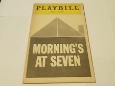 Vintage Playbill Program Morning's At Seven Lyceum Theatre 1981 Nancy Kulp