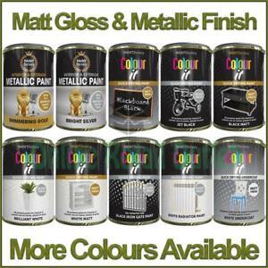 Tin Paint Matt Gloss Metallic Metal Wood Plastic Indoor Outdoor Fast Dry 300ml