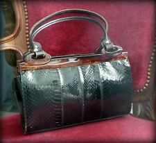 Sac vintage-sac lézard noir des années 50-Vintage bag 50-Sac années 50