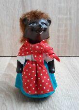 1960s-1970s Vintage Gdr East Germany Rubber Toy Doll Hedgehog Girl