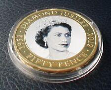 2011 JERSEY 50 PENCE QUEEN ELIZABETH 11 DIAMOND JUBILEE 1952 - 2012