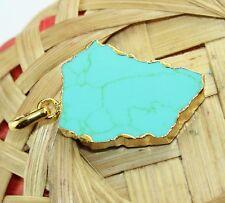 Zj4949 Best Sale! Sleeping Turquoise 24k Gold Plated Handmade  Pendant Jewelry