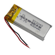 3.7V 400mAh rechargeable Polymer Lipo battery For GPS Bluetooth Recorder 522040