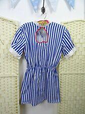 fancy dress nurse short dress costume striped flirty party hen cosplay cotton S