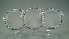 Silver Beaded Bracelet Jewelry New Silver Pearl Acrylic Bead Gift For Her