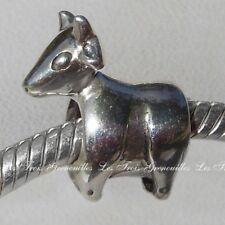 Biagi Bead Sterling Silver, Taurus zodiac Sign Designer Charm Jewelry BSZL05