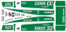 #33 Harry Gant Skoal Bandit Indy Cart 1987 1/64th Ho Scale Slot Car Decals