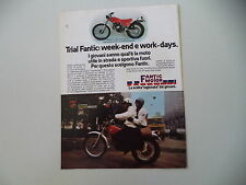 advertising Pubblicità 1978 MOTO FANTIC TX-250 TRIAL 125