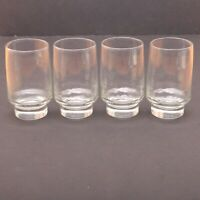6 Clear Glass Footed Tumblers Juice Glass