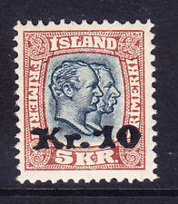 ICELAND 1930 SG150a 10k on 5k slate-blue & brown lightly mounted mint. Cat £450