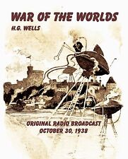 WAR OF THE WORLDS, Orson Welles 1938 Original Radio Broadcast Audio CD