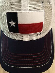 Texas Flag Mesh Cap Navy One Size NWT Patch trucker lone star state