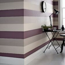 Superfresco Java Stripe Plum Modern Wallpaper Roll