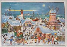 """Nostalgischer Adventskalender """"Im Hohen Norden"""" A4 Glimmer Sellmer Verlag #47"""