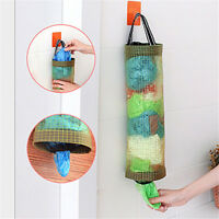Home Grocery Bags Holder Wall Mount Storage Dispenser Plastic Kitchen RS