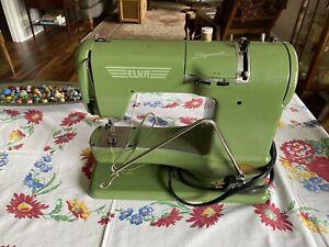 Elna Supermatic Portable Sewing Machine Type 722010 -Vintage Made in Switzerland