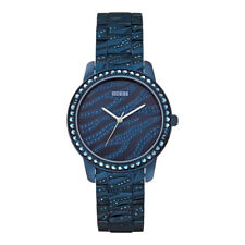 Watch Guess W0502L4 Indulge analogue ladies watch blue 36mm steel - Iconic Blue