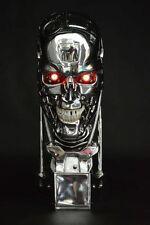 LED Light 1:1 Terminator T800 Chromed Skull Endoskeleton Bust Resin Statue New
