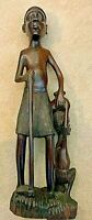 """Vintage African Ebony Carving - 23"""" tall; 6"""" wide.  7 pounds plus."""