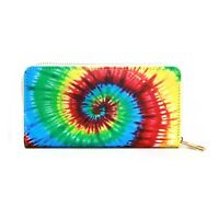 Jinscloset Women's Fashion Tie-Dye Design Everyday Organizer Clutch Wallet