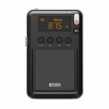 Eton Mini Compact AM/FM/Shortwave Radio, Black
