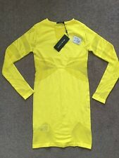 Marciano Guess ESTER DRESS **NEW W TAGS $140** Yellow Bodycon Stretch sz 8-14