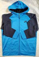 Nike Sportswear Big Kids' Full-Zip Therma Fit Jacket, Blue/Navy, Size XL