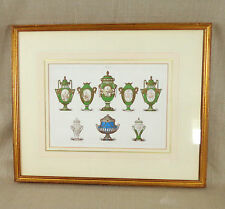 Original Victorian Print 1851 Framed Picture Great Exhibition Sevres Porcelain B