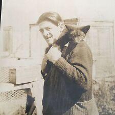 Grande Photo Ancienne 1930 Elevage Renards Argentés Lac St Jean Canada
