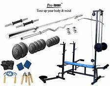 Protoner 80 Kg  20 In 1 Bench Weight Lifting Home Gym Fitness Pack