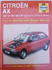 CITROEN AX 1987 ~ 1997 PETROL & DIESEL 3014 HAYNES SERVICE & REPAIR MANUAL
