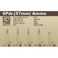 AFV Club 35174 6 Pdr 57 mm Ammunition 1/35 scale model Accessory