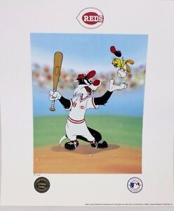 Looney Tunes McKimson REDS Warner Keep Your Eye On The Tweety BASEBALL Litho