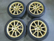 JDM 05-07 Subaru WRX STI EJ207 V9 OEM Gold Wheels, Rims, 5X114.3 hubs 17X8+53