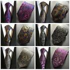 Men Fashion Floral Paisley 100% Silk Jacquard Neck Tie 8cm Wide Wedding Neckties